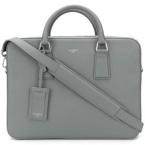 Sandro Paris Gray Grey Laptop Bag Briefcase